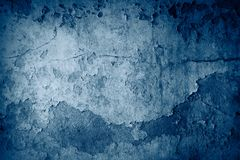 Blue concrete background Royalty Free Stock Photos