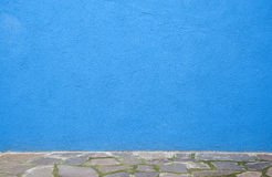 Blue concrete room Royalty Free Stock Photography