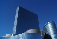 Blue Concrete Building Under Blue Sky royalty free stock photos
