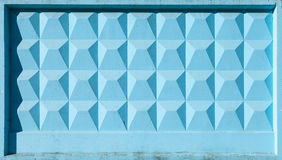 Blue concrete fence block Royalty Free Stock Images