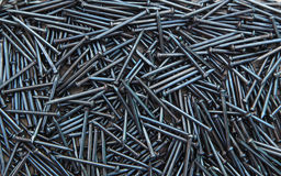 Blue Concrete nails Royalty Free Stock Image