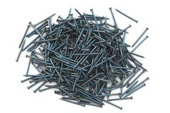 Blue Concrete nails Stock Photos