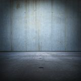 Blue concrete room Stock Photography