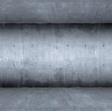 Blue concrete room Stock Images