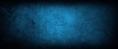 Blue concrete wall Royalty Free Stock Image