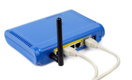 Blue Connected Router Stock Photography