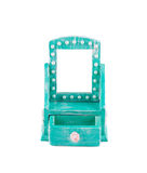 Blue console mirror handmade. Stock Photo