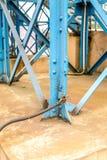 Blue construction earthing Stock Photo