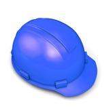 Blue construction helmet Royalty Free Stock Photo