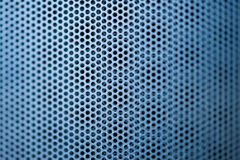 Blue construction metal grill Royalty Free Stock Images