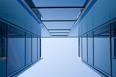 Blue constructions. Glassed blue constructions Royalty Free Stock Images