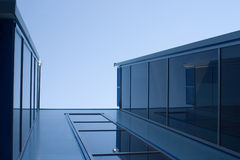 Blue constructions. Glassed blue constructions Stock Photo