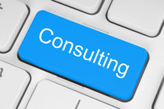 Free Blue Consulting Button Royalty Free Stock Images - 33359899