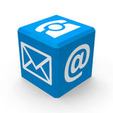 Blue contact button Royalty Free Stock Photography