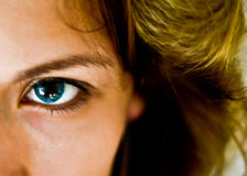 Blue Contact Lens Royalty Free Stock Photos