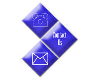 Blue contact signs Stock Photography
