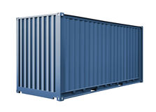 Blue container for cargo transportation Royalty Free Stock Photography