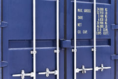 Blue container Royalty Free Stock Photo