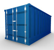 Blue container Royalty Free Stock Images