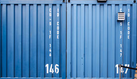 Blue container Royalty Free Stock Photos