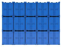 Blue containers Royalty Free Stock Image