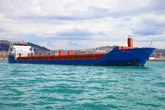 Blue containers ship Stock Photography