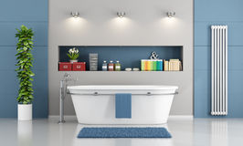 Blue contemporary bathroom Stock Photo