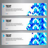 Blue content geometric banners (place for your text) Stock Image