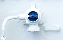 Blue control valve switch Royalty Free Stock Photography