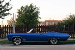 Blue Convertible Stock Image