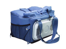 Blue  cooler bag Royalty Free Stock Photo