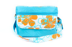 Blue cooler bag Stock Images