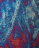 Blue Copper Raku Vertical Background. A rich blue copper raku pottery background stock photo