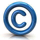Blue copyright icon Stock Photos
