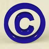 Blue Copyright Sign Representing Patent Protection. Blue Copyright Sign With White Background Representing Patent Protection Royalty Free Stock Image