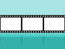 Blue Copyspace Represents Negative Film And Cinematography. Copyspace Filmstrip Showing Cinematography Photographic And Photograph Royalty Free Stock Photography