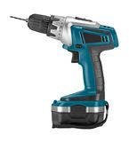 Blue Cordless Drill. Stock Photography