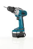 Blue Cordless Drill. Royalty Free Stock Image