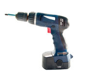 Blue cordless drill Royalty Free Stock Photography