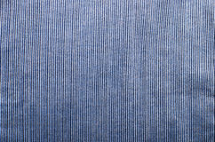 Blue corduroy fabric texture close- up photo background Royalty Free Stock Photography