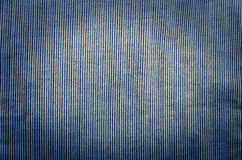 Blue corduroy fabric texture close up photo background Royalty Free Stock Photography