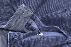 Blue corduroy pants Royalty Free Stock Image