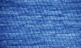 Blue corduroy texture Stock Image
