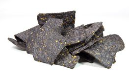 Blue Corn Tortilla Chips stock photo