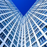 Blue Corner Of New Modern House Royalty Free Stock Images