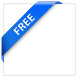 Blue corner ribbon Royalty Free Stock Photos