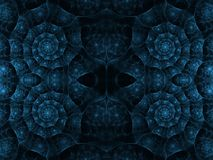 Blue Corner Spirals Royalty Free Stock Photos