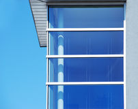 Blue Corner Window Against Sky Royalty Free Stock Photos