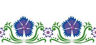 Blue cornflowers and chamomiles. Seamless ornament with blue cornflowers and chamomiles vector illustration