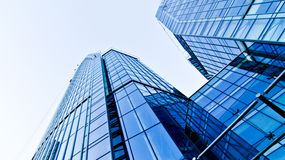 Blue corporate building Royalty Free Stock Images